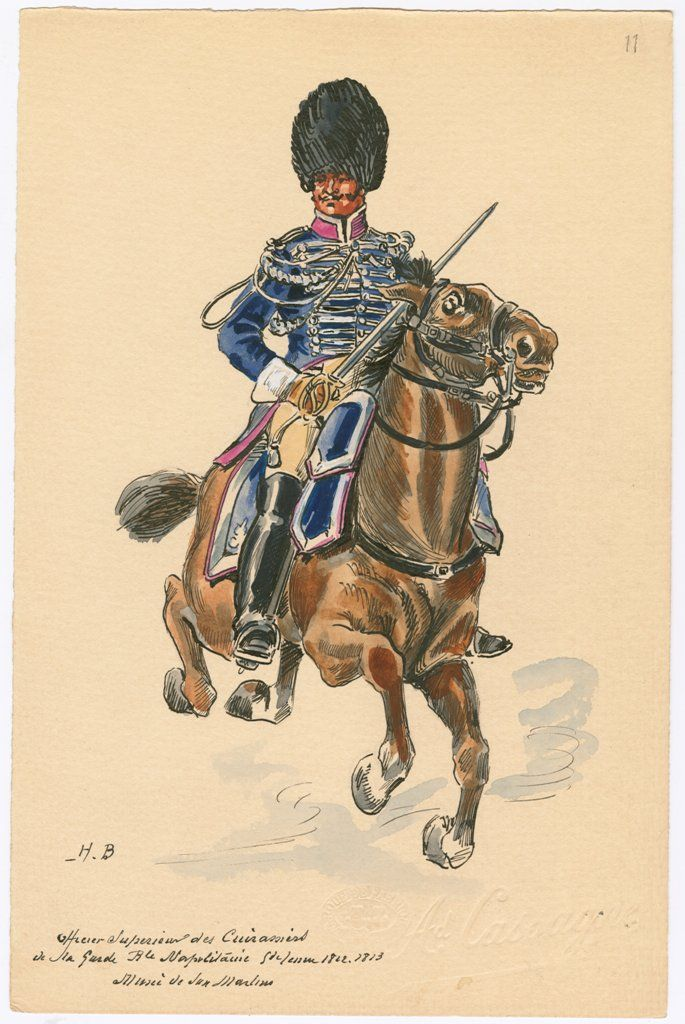 Naples; Royal Guard, Cuirassiers, Senior Officer, Grande Tenue, 1812-13