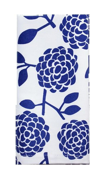 Dandi Set of 4 Napkins - Floral Blue | Krinkle - Homewares & Gifts
