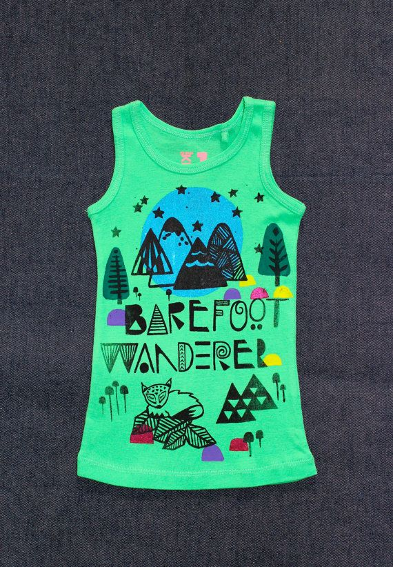 Barefoot Wanderer Singlet. Sample special by wildtribe on Etsy, $15.00