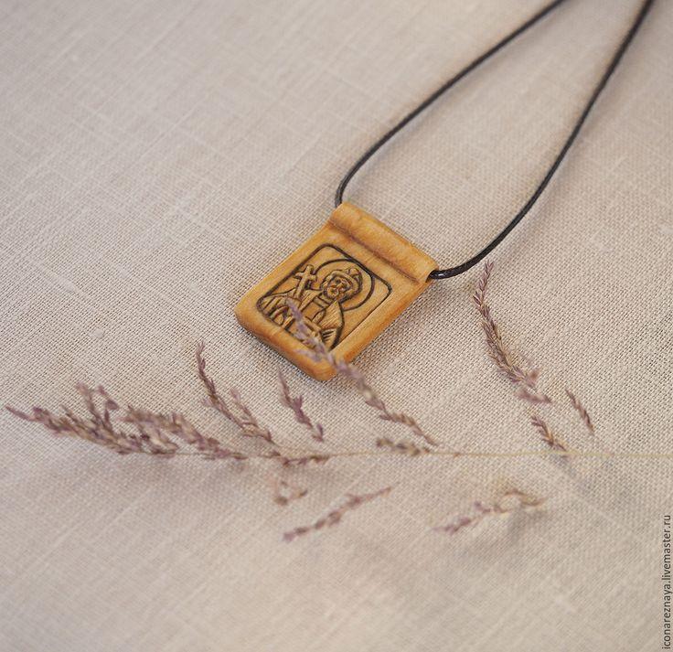 """""""Святой благоверныйм князь Андрей Боголюбский"""" - нательный образок-икона, икона, резной, образок, икона,  нательный образок, нательная икона, резная икона, деревянная икона, крещение, святой, святой андрей, андрей боголюбский, андрей, икона-подвеска, иконка, кипарисовый образок, деревянный образок, нательный, деревянный оберег, именная икона"""