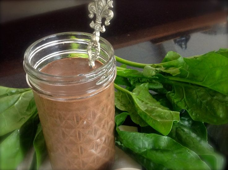 Now this chocolate green smoothie is definately one my children love, and they don't even realize it is packed with spinach! Popeye would approve!