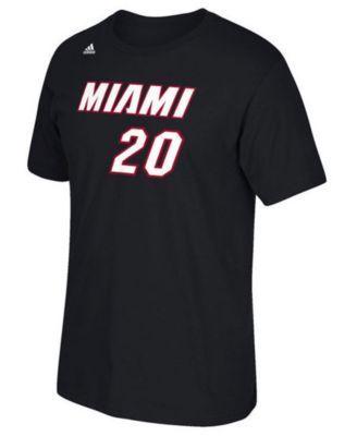 adidas Kids' Justise Winslow Miami Heat T-Shirt - Black L