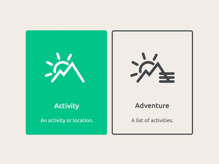 Activity or Adventure? Select Content Type Cards #UI