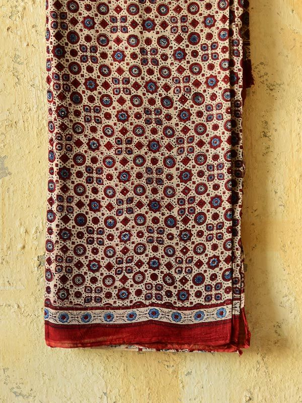Made from Gajji silk, hand blockprinted with vegetable dyes at Kutch, these Sarees are product of nature made with absolute love and patience. Draped in the elegance of a saree there is a part of you that demands to be at ease... the softness of the fabric soothes you and the cool Indigo background balances the intricate Mogul motives to look earthy rich on you.  Buy here ~ http://shop.gaatha.com/From-the-Sindh-Ajrakh-Saree