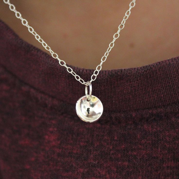 Excited to share the latest addition to my #etsy shop: Initial charm necklace - Silver charm - Christmas gift - initial charm - initial necklace - letter charm - letter necklace - gift for her http://etsy.me/2mRg5N3 #jewellery #necklace #silver #no #yes #girls #initialnecklace
