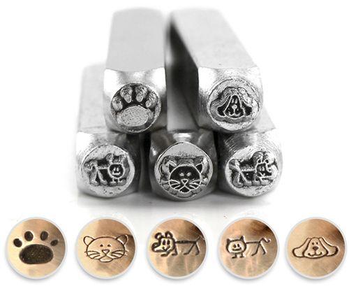 ImpressArt Dogs & Cats Metallstempel Set  von Susan D. Design Metal Clay and More auf DaWanda.com