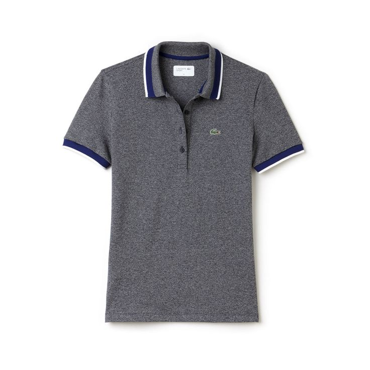 Contrast stripes bring a crisp look to the neckline and sleeves of this Lacoste Sport Golf polo in stretchy mini piqué. Sophisticated and purpose-built.