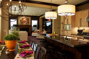 Lighting A Kitchen And Dining Room Contemporary Kitchen San Diego Robeson Design