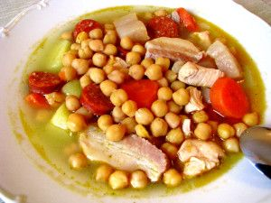 Cocido - Spanish stew based on meat and chickpeas