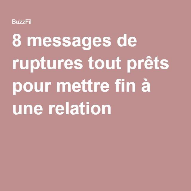 8 messages de ruptures tout prêts pour mettre fin à une relation !