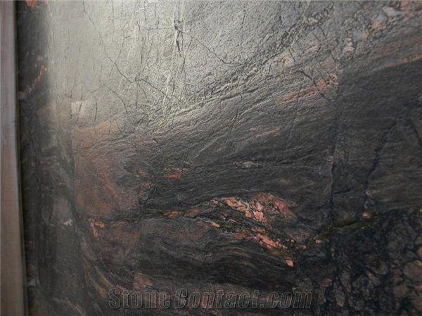 Antique brown, leather finish Capolavoro Granite 2cm Slabs