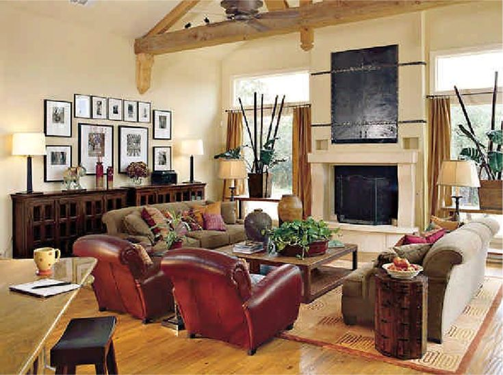 Furniture Placement With Large Fireplace In Great Room