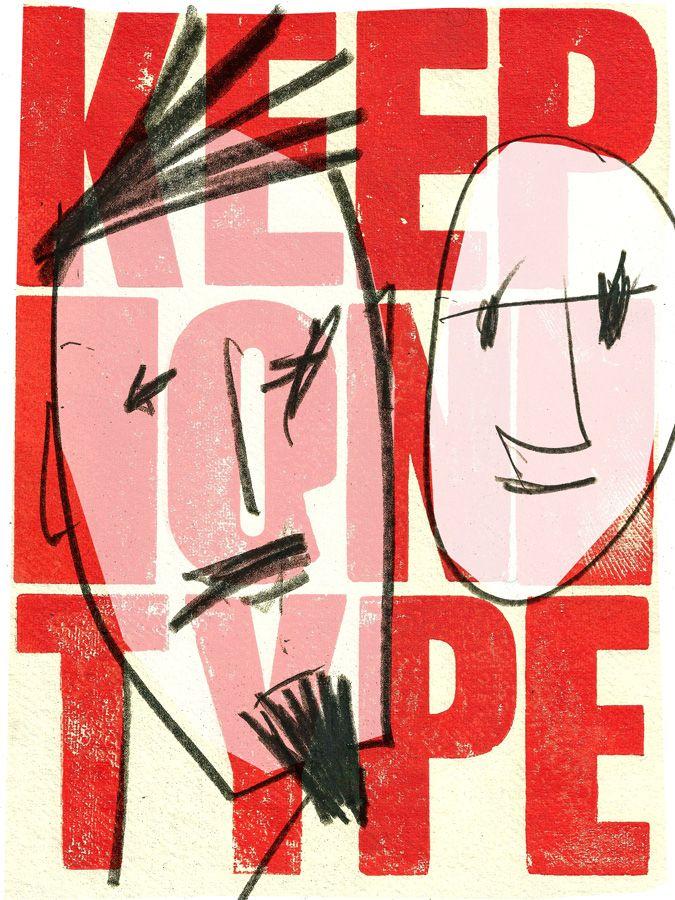 Typo Face #illustration #mixedmedia #marcocampedelli