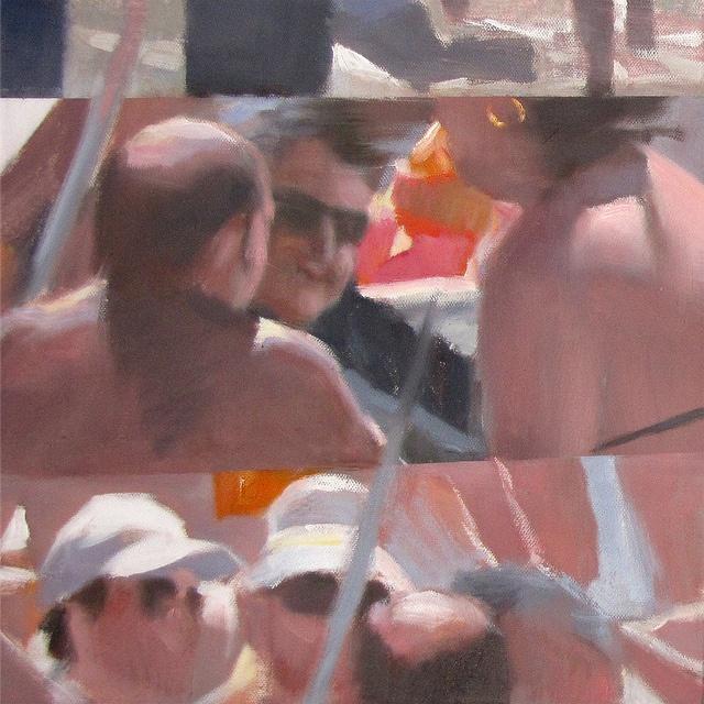 Bagnanti 1540, oil on canvas, cm 30x30. #art #paintings
