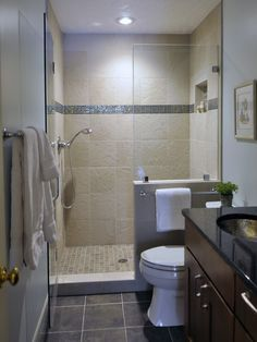 Pic On Small Bathrooms Design Pictures Remodel Decor and Ideas love the solid half wall between the shower and toilet I ud add a door to the shower though