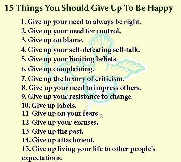 "They should definitely replace the words ""give up"" with ""extinguish""... otherwise you're reading ""give up"" over and over again... ?? But I like the list."