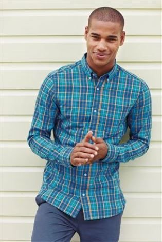 Buy Turquoise Blue Check Shirt from the Next UK online shop