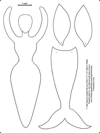 goddess form art doll template fairy wings and mermaid tail paper art doll template