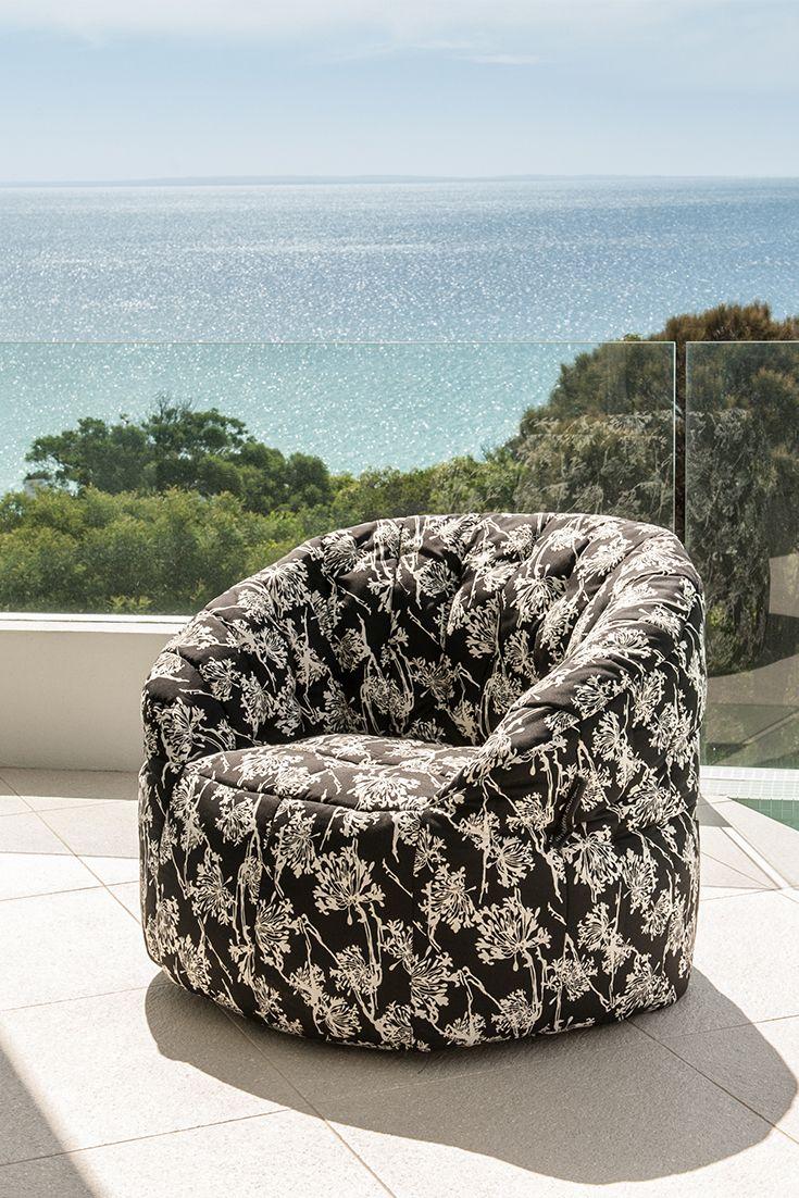 Autumn feels with this beautiful bean bag sofa  #newzealand #autumn #interior