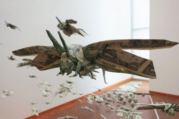 """Sipho Mabona """"The Plague"""" for Folding Paper ExhibitionOrigami Artists, Folding Paper, Latest Exhibitions, Paper Art, Sipho Mabona Quotth Plague, Design Art, Artists Sipho, Social Messages, Paper Exhibitions"""
