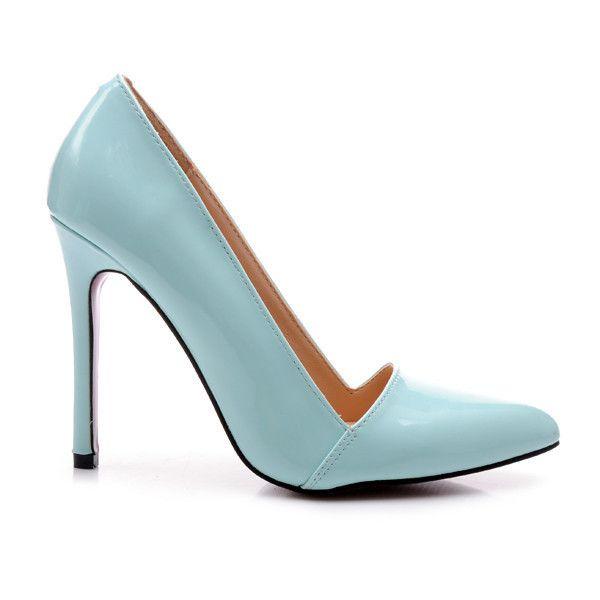 LAKIEROWANE SZPILKI E333BL /S1-83P - odcienie niebieskiego > CzasNaButy.pl > buty i torebki