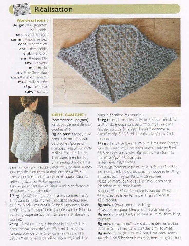 Blog de crochet-facile : Crochet Facile pour tous , Etole Style Kimono (***)