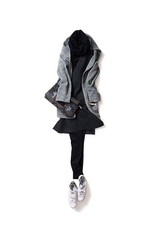 Kyoko Kikuchi's Closet   スポーティーにラフに着るジャンスカのコーデ