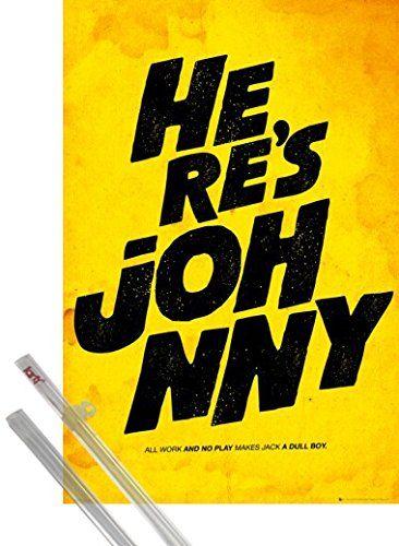 Poster + Hanger: The Shining Poster (91x61 cm) Here's Johnny, Film Quotes inklusive ein Paar 1art1® Posterleisten 1art1 http://www.amazon.de/dp/B00K0J1XJI/ref=cm_sw_r_pi_dp_oPPwub1V7CZ8Z
