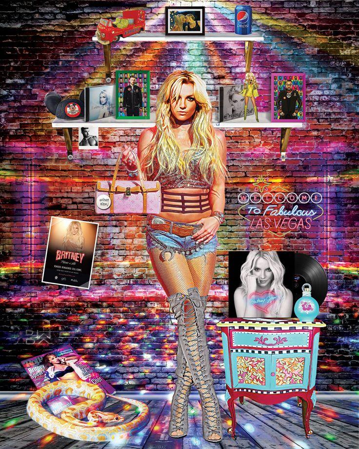 """Femme Fatale"" #britneyspears #popart #digitalart #art"