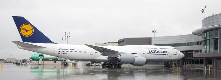 Boeing's 50th 747-8, a 747-8 Intercontinental for Lufthansa D-ABYI at the new Boeing Delivery Center at Everett. Image Courtesy: Boeing