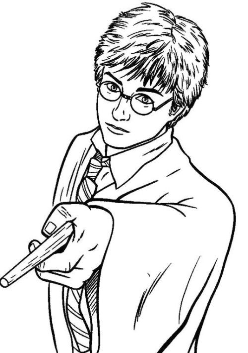 harry potter pointed coloring pages