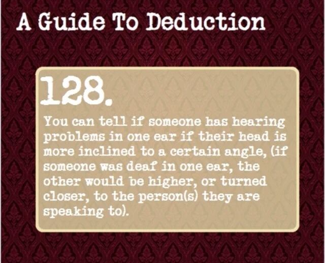 A Guide To Deduction #128