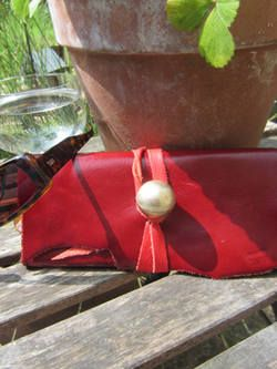 Red Leather Purse With Tie | Buy Now