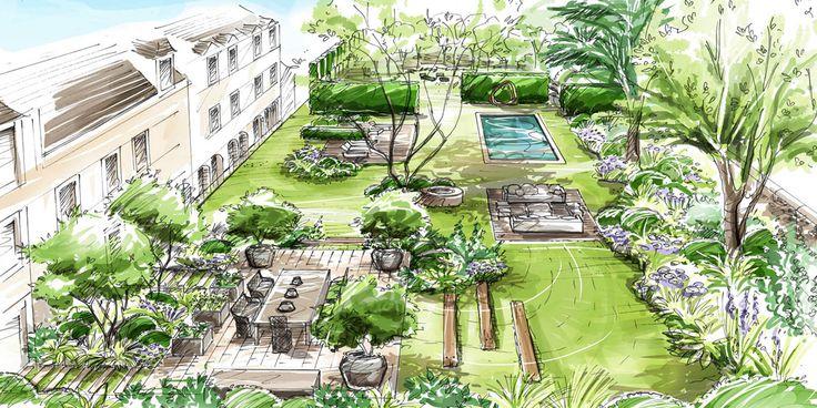 Les 60 Meilleures Images Du Tableau Garden Drawings Sur Pinterest