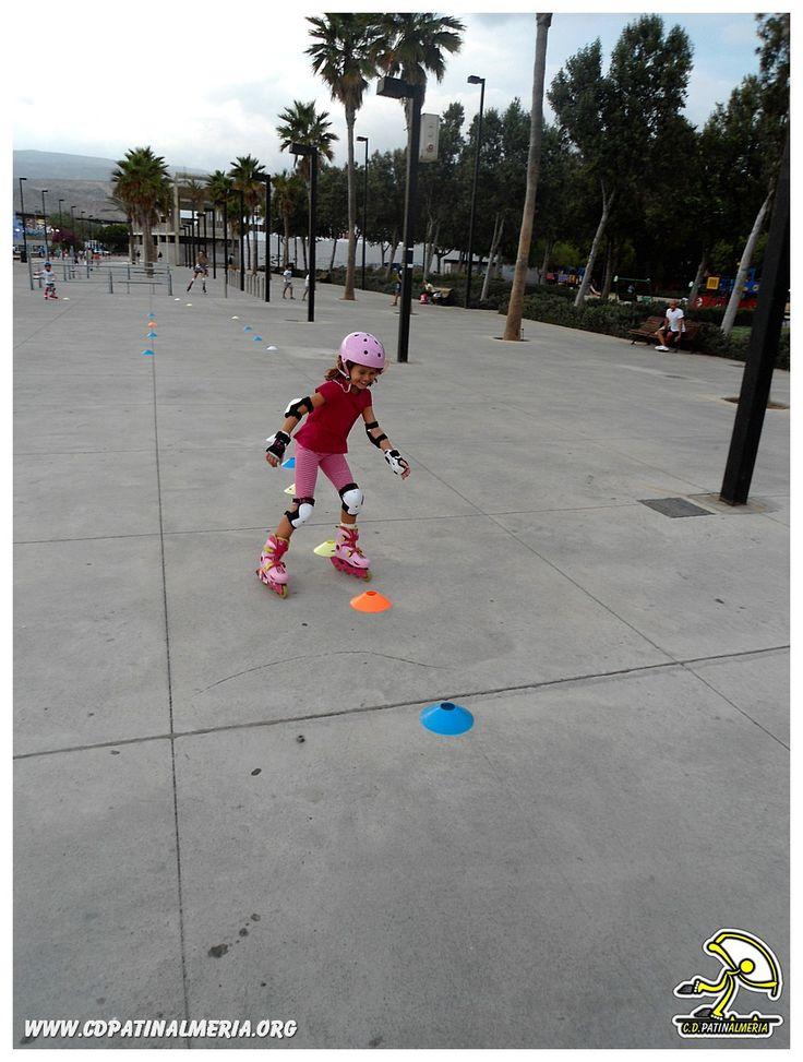 #Circuito de #habilidades en #patines para #niños .  El último día de #clases pasaron la prueba con creces!! Estos chicos#Roller prometen! www.cdpatinalmeria.org