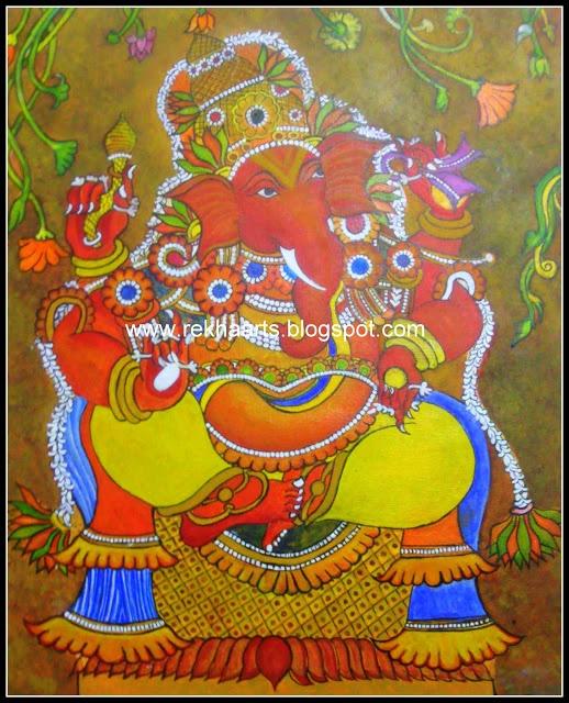 1000 images about kerala murals on pinterest kerala for Asha mural painting guruvayur