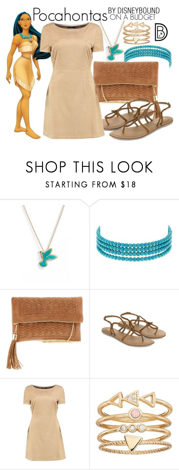 """""""Pocahontas"""" by leslieakay ❤ liked on Polyvore featuring Kate Spade, Kenneth Jay Lane, Disney, Urban Expressions, Accessorize, Boohoo, LC Lauren Conrad, disney, disneybound and disneycharacter"""