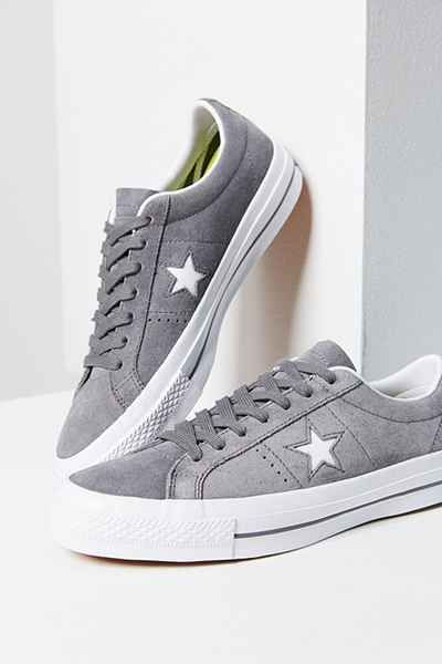 converse one star suede grey