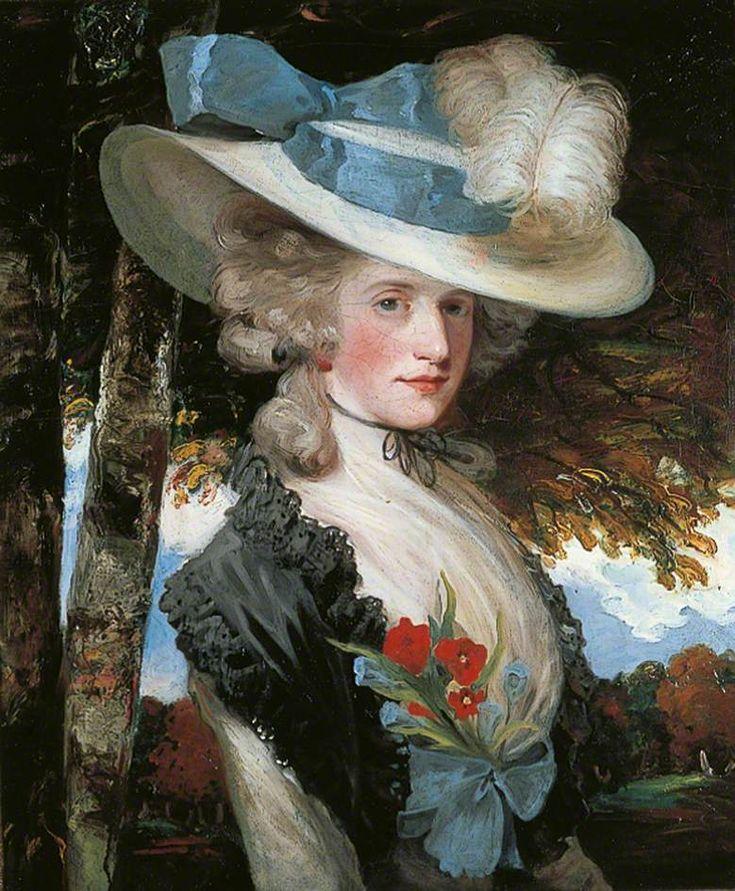 The Honourable Elizabeth Ingram (1762–1817)  (later Mrs Hugo Meynell)  by John Hoppner       Date painted: c.1789