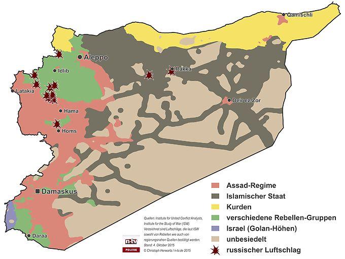 Karte von #Syrien