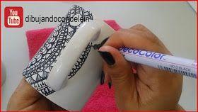 como dibujar un #mandala en una taza paso a paso #manualidades #dibujo #deleinpadilla #dibujandocindelein