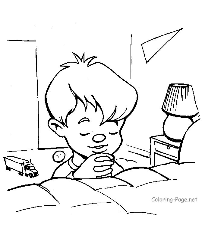 bible coloring page boy praying az coloring pages