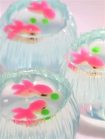 fish bowl jello 幸楽屋 : 金魚鉢