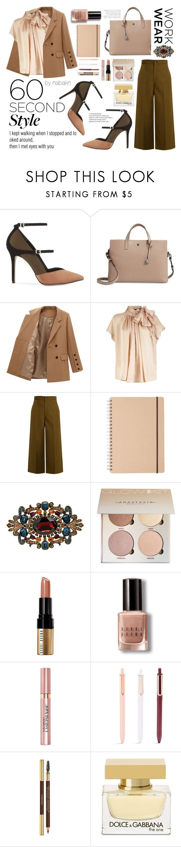 """Dependable Ms. Brownie"" by kagamineai ❤ liked on Polyvore featuring Reiss, Lodis, Joseph, Heidi Daus, Bobbi Brown Cosmetics, L'Oréal Paris, Yves Saint Laurent, Dolce&Gabbana, WorkWear and 60secondstyle"