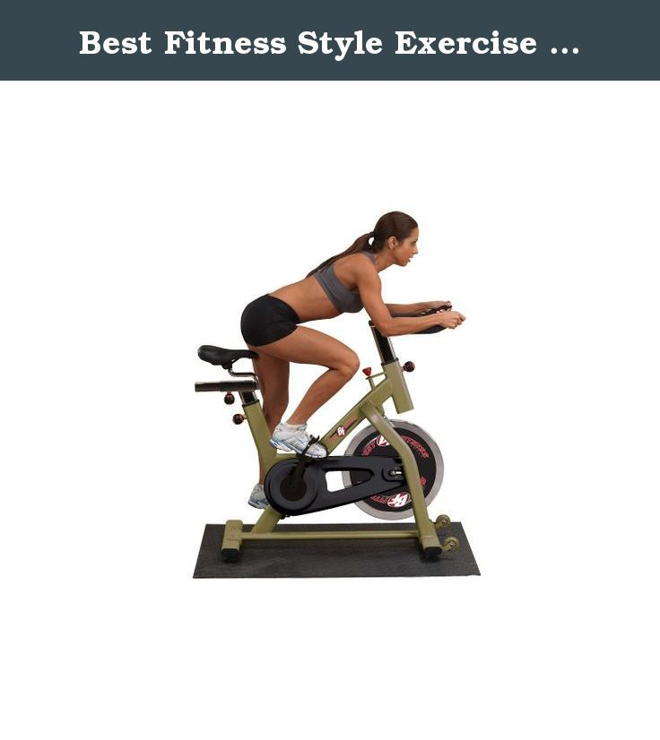 Best Fitness Style Exercise Bike Chain Drive. 3' x 4' usage area 40 lb. flywheel Chain drive system Transport wheels .