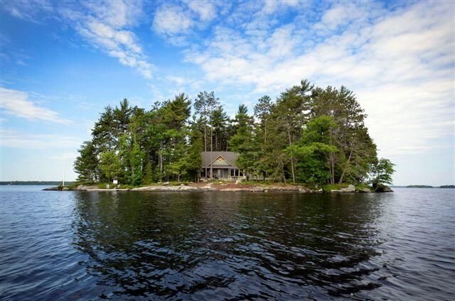 Whitt Island, Lake Muskoka - gorgeous, level rock and pine adorn 910' lake frontage on this 2 acre (1/2 of the island) surrounded by deep water, rock outcroppings and shelves.  Luxurious architecturally designed, quality built lake house open concept with soaring 28' fireplace.  Call Jack 705-646-4693 for more details.