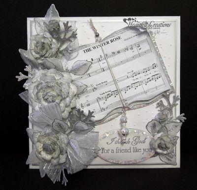 Heartfelt Creations   Silver Vintage Floret Friend Like You