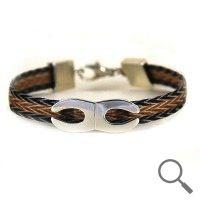 The original collection by designer Nanna Salmi  Horsehair bracelet Cedric, Ribbon 9mm