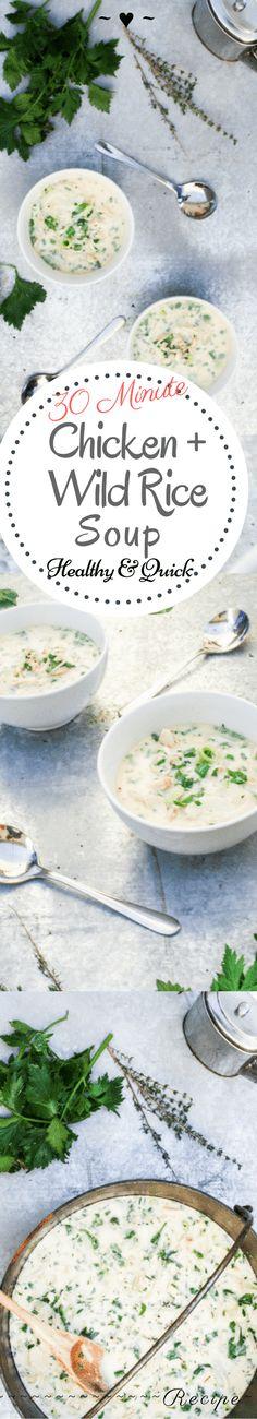 30 Minute Chicken & Wild Rice Soup – Rebels Kitchen