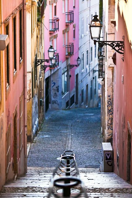Lisboa. I don't recall seeing all these beautiful colours but the climbing of the streets was pretty tough :)